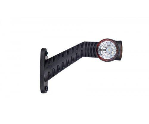 Выносной габаритно-контурный фонарь LED рожок под углом длинный левый белый/красный/оранжевый LD 2175