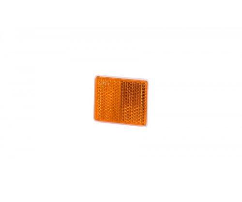 Рефлектор-отражатель квадратный(38х47мм) с самоклеющейся лентой оранжевый UO 235