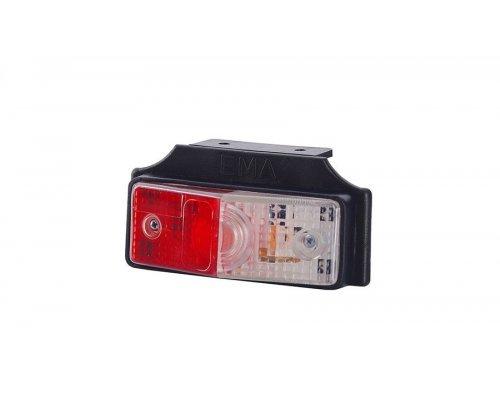 Габаритный плоский фонарь висячий бело/красный LOP 259