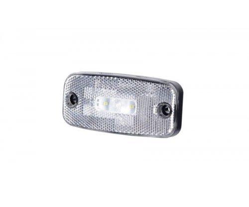 Габаритно-контурний ліхтар LED з відбивачем без кронштейна білий LD 272