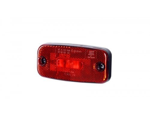 Габаритно-контурний ліхтар LED з відбивачем без кронштейна червоний LD 273