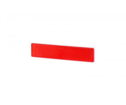 Рефлектор-отражатель прямоугольный(103х21мм) с самоклеющейся лентой красный UO 338