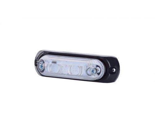 Габаритно-контурний овальний ліхтар LED з гумовою підкладкою білий LD 377