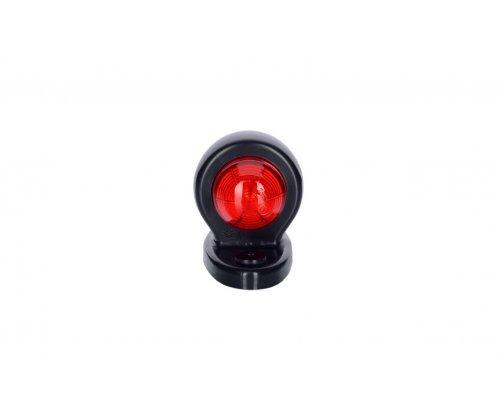 Выносной габаритный фонарь HOR 51 LED рожок прямой короткий овальная подставка красный/белый LD 465