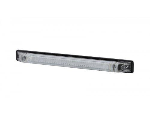 Довгий ліхтар HOR 49 LED червоні діоди прозоре скло LD 475