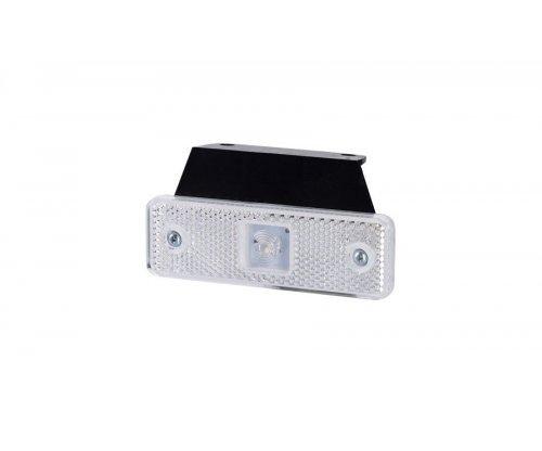 Габаритно-контурний ліхтар HOR 55 LED з відбивачем з кронштейном білий LD 499