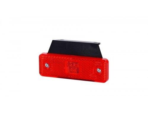 Габаритно-контурний ліхтар HOR 55 LED з відбивачем з кронштейном червоний LD 501