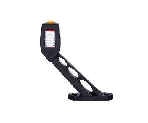 Выносной габаритный фонарь HOR 53 LED рожок под углом длинный левый красный/белый/оранжевый LD 518/L