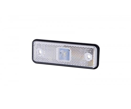 Габаритно-контурний ліхтар HOR 55 LED резиновий корпус з відбивачем білий LD 525
