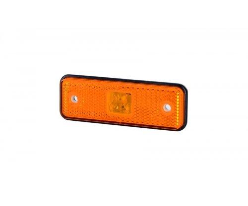 Габаритно-контурный фонарь HOR 55 LED резиновый корпус с отражателем оранжевый LD 526