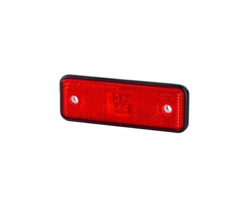 Габаритно-контурний ліхтар HOR 55 LED резиновий корпус з відбивачем червоний LD 527