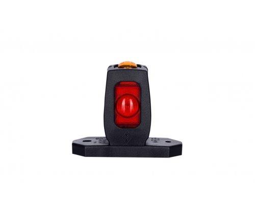 Виносний габаритний ліхтар HOR 53 LED ріжок прямий короткий червоний/білий/оранжевий LD 534