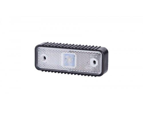 Габаритно-контурний ліхтар HOR 55 LED рильєфний широкий корпус з відбивачем білий LD 537