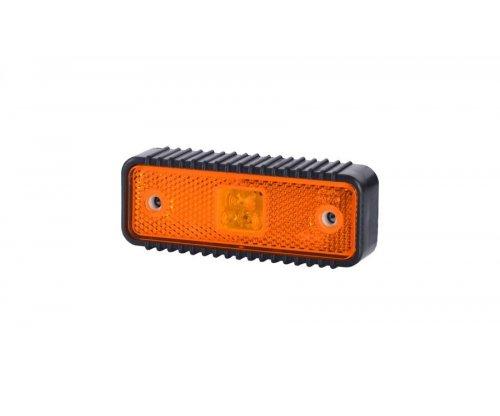 Габаритно-контурний ліхтар HOR 55 LED рильєфний широкий корпус з відбивачем оранжевий LD 538