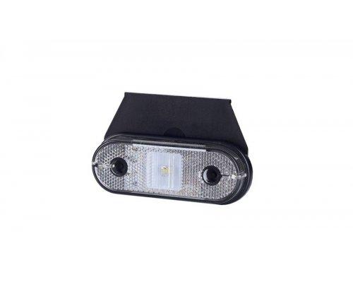 Габаритно-контурний ліхтар HOR 61 LED з відбивачем з кронштейном білий LD 623