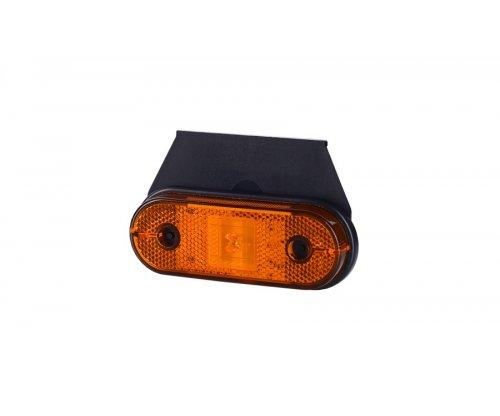 Габаритно-контурний ліхтар HOR 61 LED з відбивачем з кронштейном оранжевий LD 624