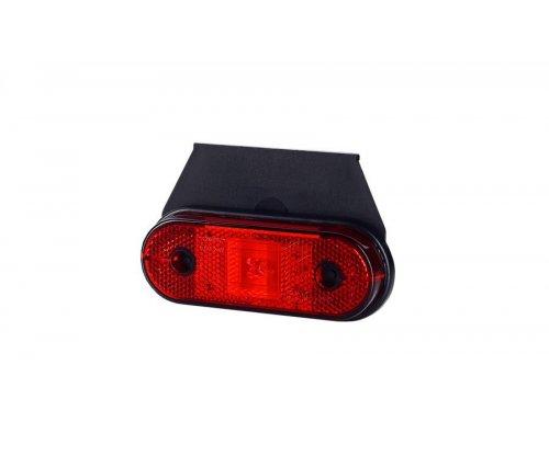 Габаритно-контурный фонарь HOR 61 LED с отражателем с кронштейном красный LD 625