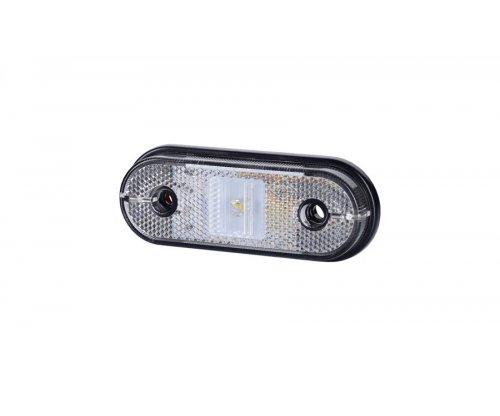 Габаритно-контурный фонарь HOR 61 LED с отражателем на шурупах белый LD 632