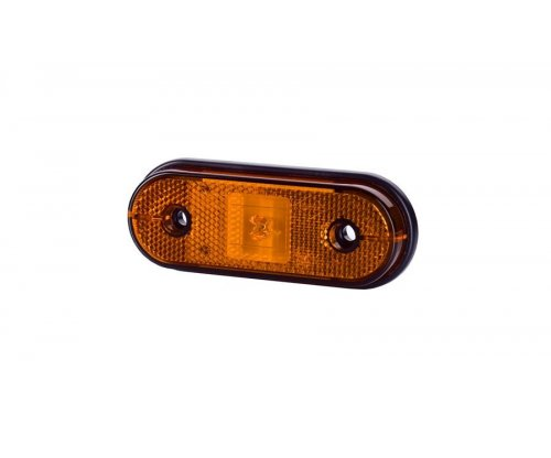 Габаритно-контурний ліхтар HOR 61 LED з відбивачем на шурупах оранжевий LD 633