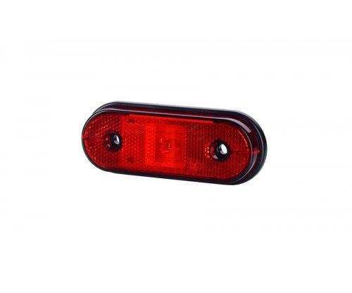 Габаритно-контурний ліхтар HOR 61 LED з відбивачем на шурупах червоний LD 634