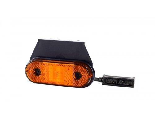 Габаритно-контурный фонарь HOR 61 LED с отражателем с кронштейном оранжевый LD 650