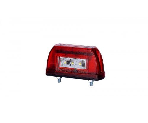 Ліхтар підсвічування заднього номера HOR 63 LED корпус червоний LTD 669