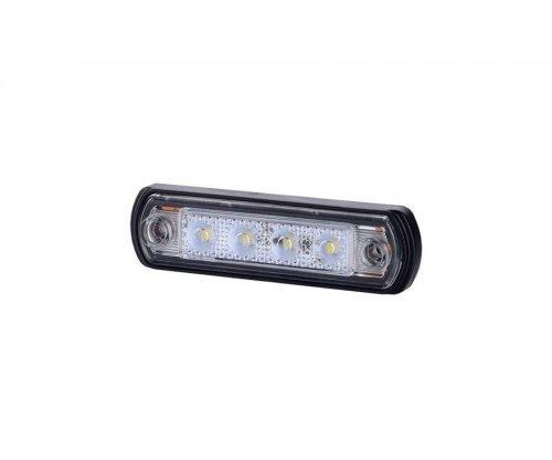 Габаритно-контурный фонарь LED резиновый корпус белый LD 675