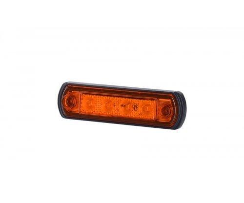 Габаритно-контурный фонарь LED резиновый корпус оранжевый LD 676