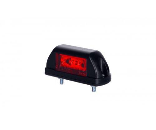 Габаритний ліхтар LED квадратний на шурупах білий/червоний LD 703