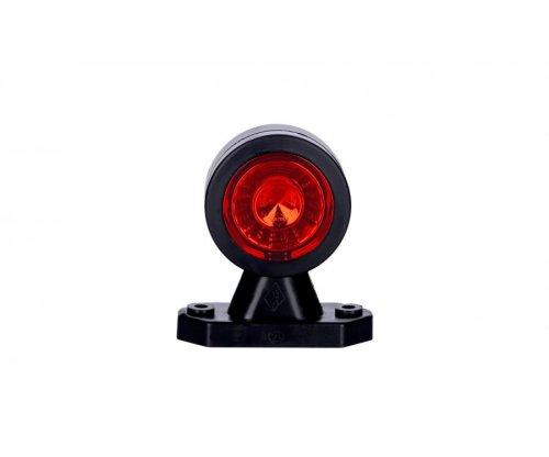 Выносной габаритно-контурный фонарь HOR 69 LED короткий прямой рожок белый/красный LD 721