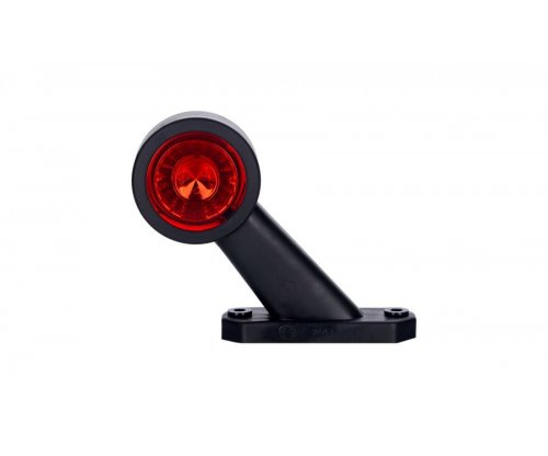 Выносной габаритно-контурный фонарь HOR 69 LED рожок под углом короткий правый белый/красный LD 725/P