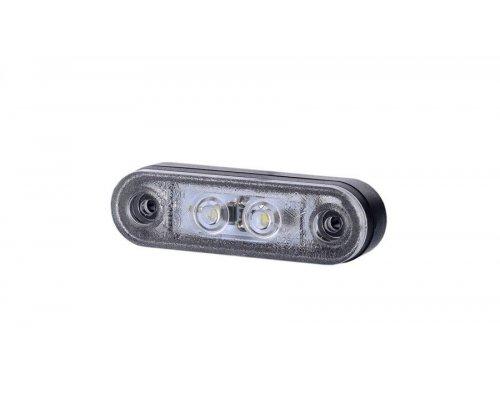 Габаритно-контурный фонарь 2 LED высокий резиновый корпус белый LD 956