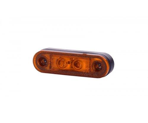 Габаритно-контурний ліхтар 2 LED високий резиновий корпус оранжевий LD 957