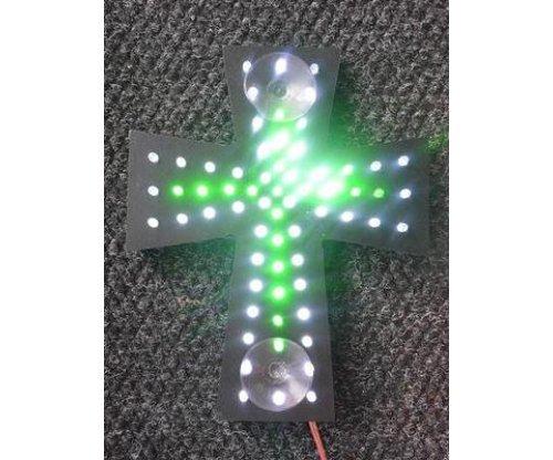 Крест белый + зеленый