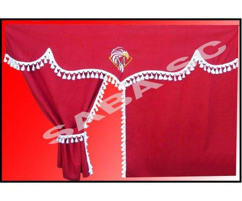 Шторка MERCEDES ACTROS червона(комплект)
